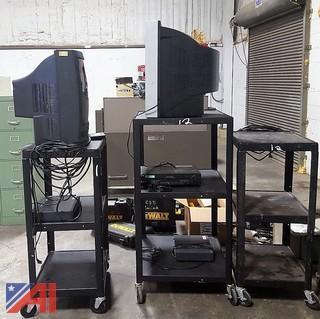 AV Carts, TV's, VCR's