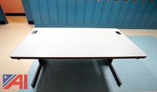 (19) Grey Laminated Computer Lab Tables
