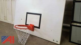 (1) Wooden Basketball Back Board