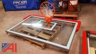 (1) Glass Basketball Back Board