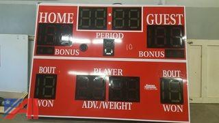 (1) Wrestling Sport Scoreboards and (2) Time Clocks