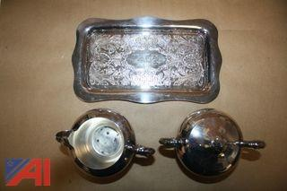 Silverware & silver Creamer Set and More