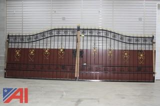 20FT Heavy Duty Bi-Parting Wrought Iron Driveway Gate (to sell as one pair)