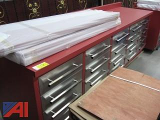 10 ft., 20 Drawer Heavy Duty Work Bench