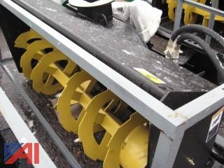 "Heavy Duty Skid Steer 68"" Snowblower Attachment"