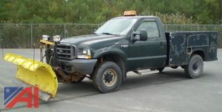 2002 Ford F250 Pickup with Utility Box and Plow