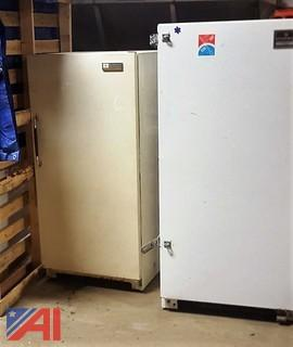(2) Assorted Upright Freezers