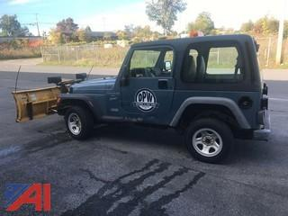 1999 Jeep Wrangler 2 Door with Plow