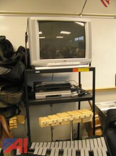 TV, DVD, Stand and Film Screen