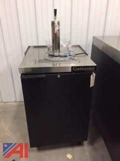 Continental Single Keg Cooler & Tap
