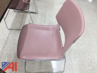 Lot of 30 Mauve Stacking Chairs