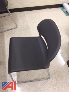 Lot of 26 Gray Stacking Chairs