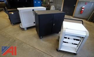 4) Assorted Store & Charging Cabinets
