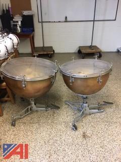 (2) Ludwig Timpani Drums