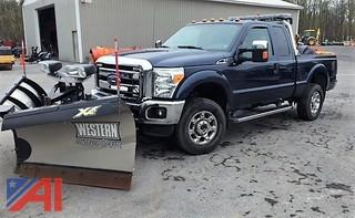 **4% BP** 2015 Ford F250 XLT Super Duty Crew Cab Pickup Truck with Plow