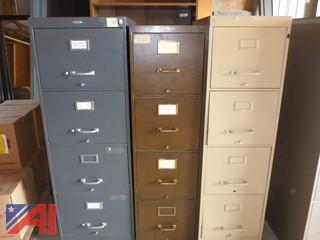(3) Metal Filing Cabinets
