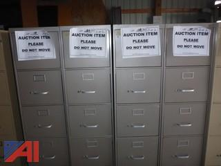 (4) Metal Filing Cabinets