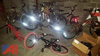 Assorted Bicycles and Stroller