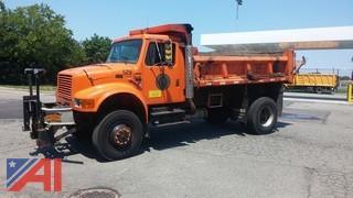 2000 International 4800 12' Heil Dump Truck with Plow