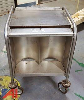 Stainless Steel Rolling Plate Kitchen Cart