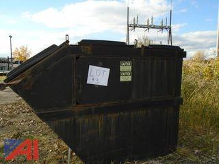(3) 6 Yard Rear Load Containers
