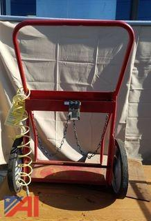 Red Torch Cart with Wire and Chain