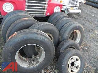 (11) Used Split Rim Tires & Rim