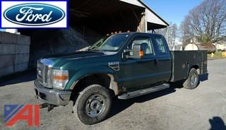 2008 Ford F250 SD Super Cab 4x4 Utility Truck