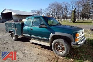 1998 Chevy 2500 Cheyenne 4x4 Extended Cab Utility Truck