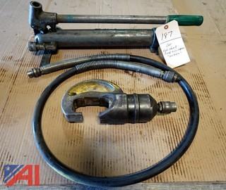 Manual Hydraulic Pump & Crimper Unit
