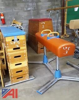 Assorted Nissen Gymnastic Equipment