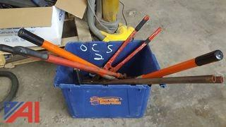 Lot Includes Assorted Bolt Cutters & Assorted Tools