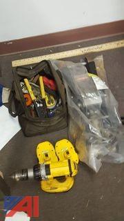 DeWalt Drill, Floor Jack, Plumbing Tools