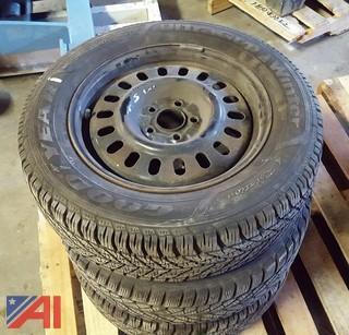 (3) Snow Tires on Rims 215/60R16 95T