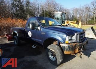 2004 Ford F250 XL SD, 4WD Pickup Truck with Plow