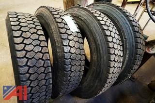 (4) New Goodyear 245/75R22.5 G124 Tires