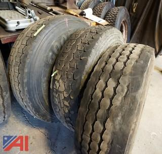 (3) Used Goodyear 315/80R22.5 Tires