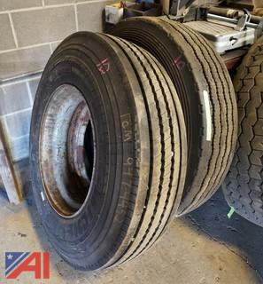 (2) 11R22.5 Tires by Michelin & Goodyear