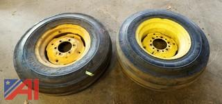 (2) Tractor Tires with Rims