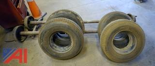 (6) Pc Mobile Home Tires With Axle Assemblies