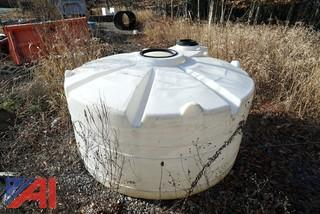 (1) 500 Gallon Poly Tank