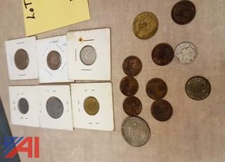 Assorted Foreign Coins and More