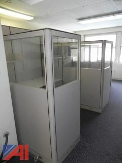 (#18) Office Cubicles, (11) Chairs and (1) File Cabinet