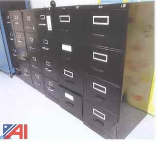 (6) Vertical File Cabinets