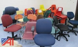 Assorted Student Desks and Chairs