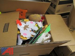 Over (70) Boxes of Assorted Books & Craft Supplies