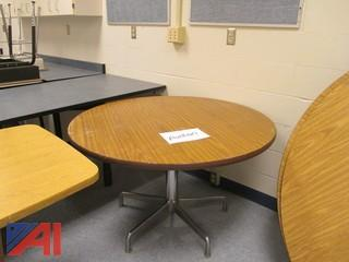 (3) Assorted Round Tables