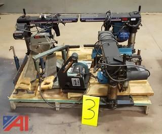 Assorted Radial Arm Saws & More