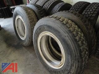 (4) Michelin 11R24.5 Drive Tires