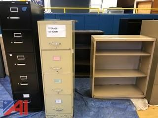 File Cabinets and Metal Shelving